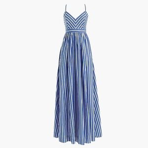 J Crew Petite long drapey dress stripe P00 00